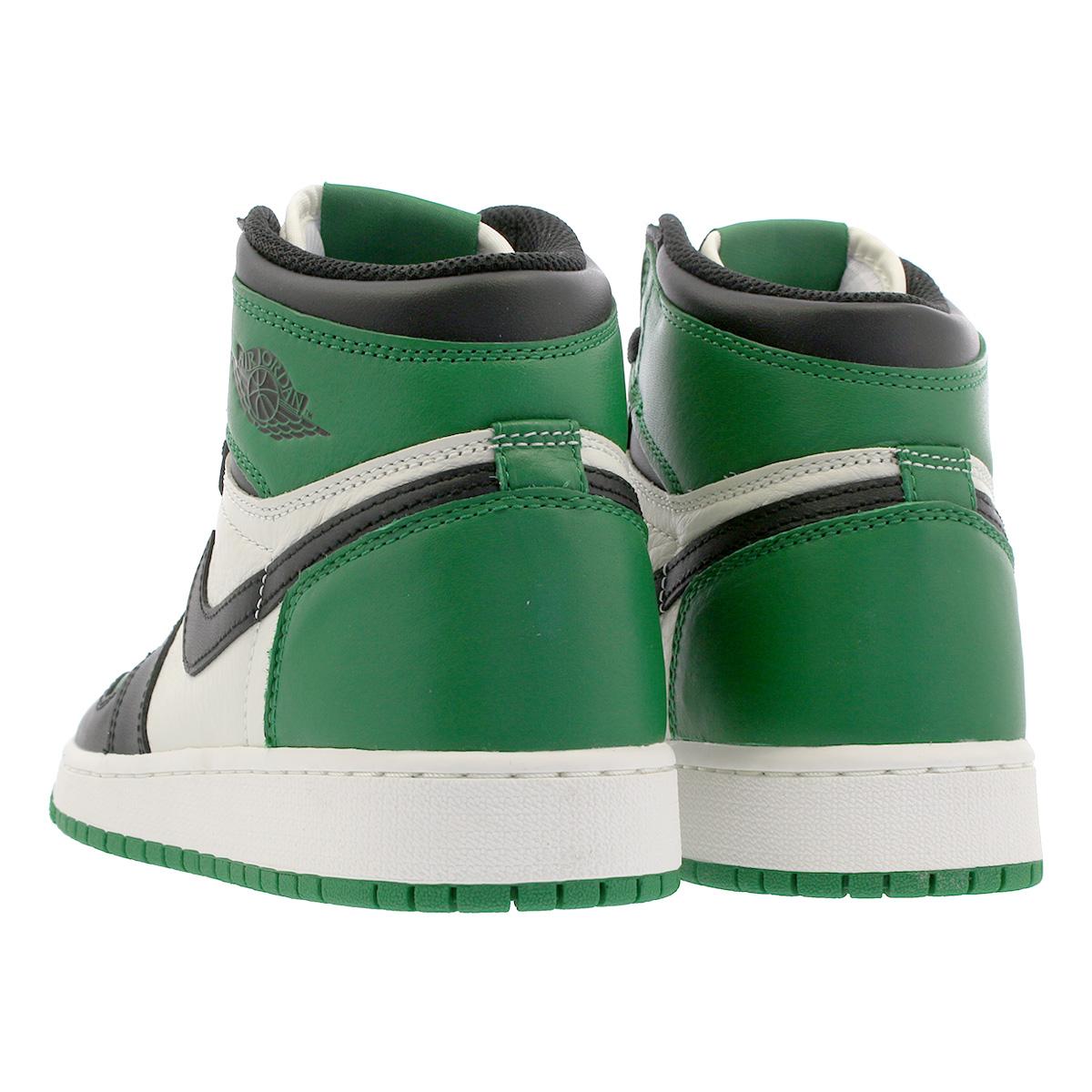 374583215709 NIKE AIR JORDAN 1 RETRO HIGH OG BG Nike Air Jordan 1 nostalgic high OG BG PINE  GREEN BLACK SAIL 575
