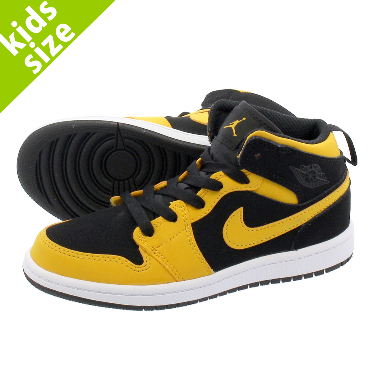 aca622a913d6 LOWTEX PLUS  NIKE AIR JORDAN 1 MID PS Nike Air Jordan 1 mid PS BLACK ...
