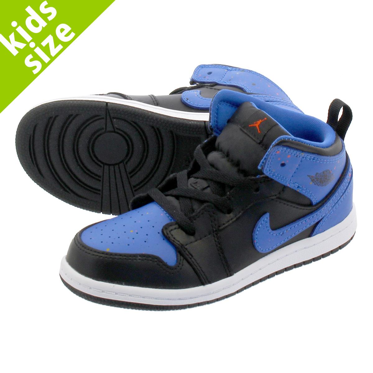 NIKE AIR JORDAN 1 MID BT Nike Air Jordan 1 mid BT BLACK SIGNAL BLUE TEAM  ORANGE 640 12f5fe293
