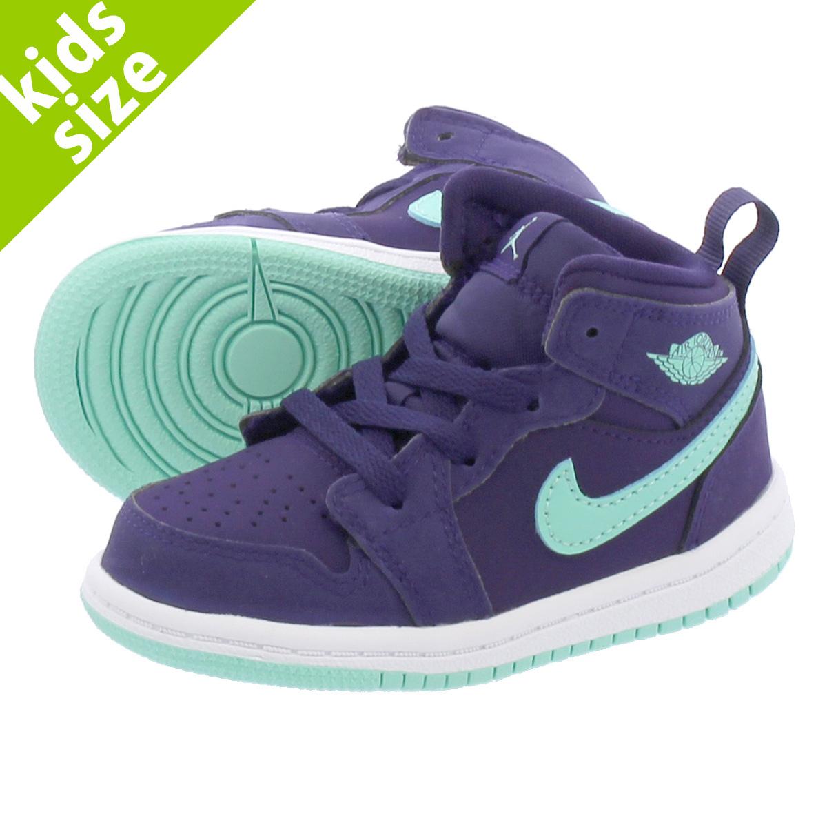 meet 19b2f 76412 NIKE AIR JORDAN 1 MID GT Nike Air Jordan 1 mid GT PURPLE EMERALD RISE WHITE  644,507-501