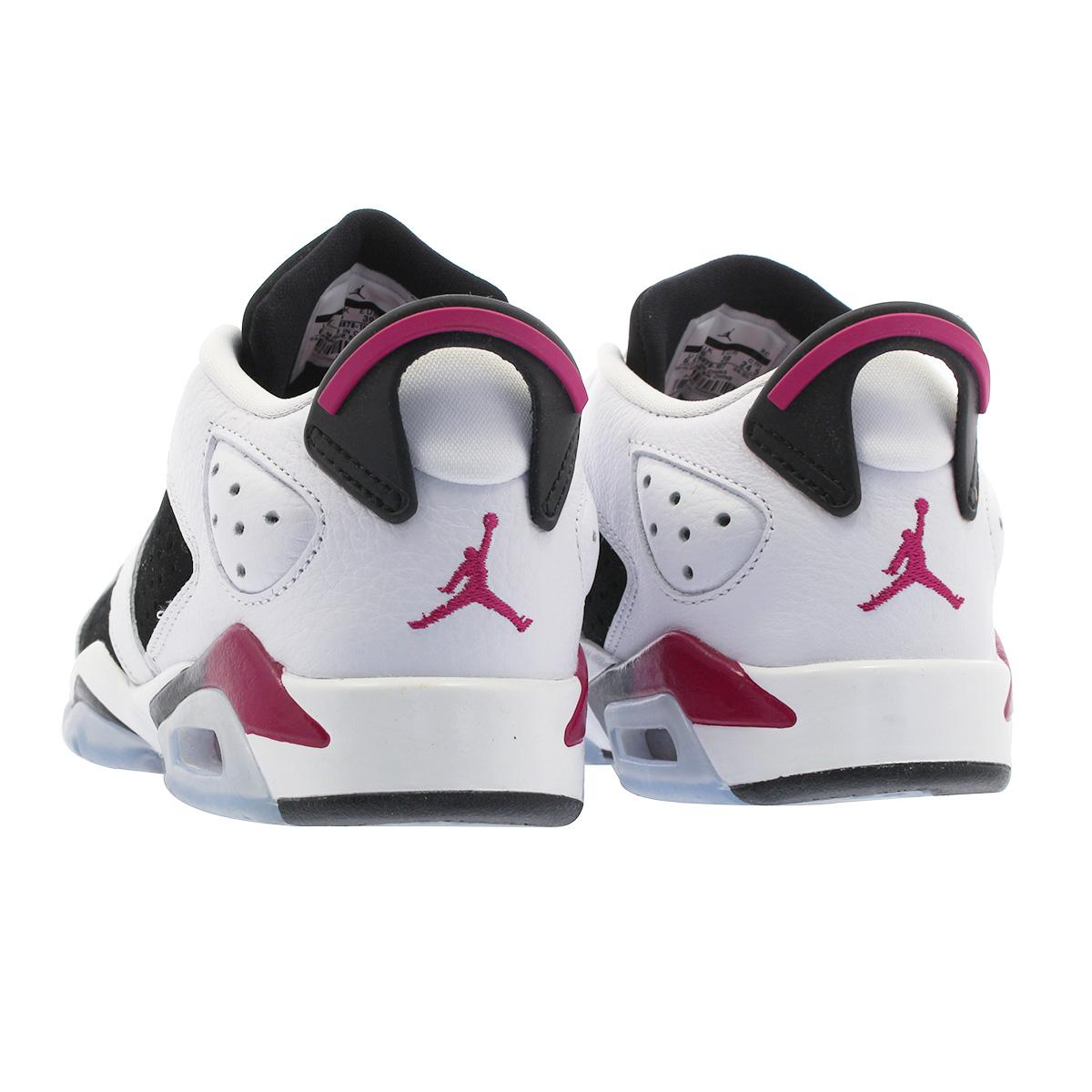 a53b30a2f9f4 NIKE AIR JORDAN 6 RETRO LOW GG Nike Air Jordan 6 nostalgic low GG WHITE  FUCHSIA BLACK 768