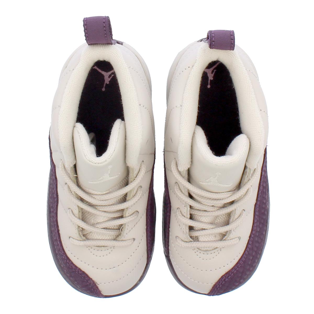 info for dab15 59aa9 NIKE AIR JORDAN 12 RETRO TD Nike Air Jordan 12 nostalgic TD DESERT  SAND/DESERT SAND/PRO PURPLE 819,666-001