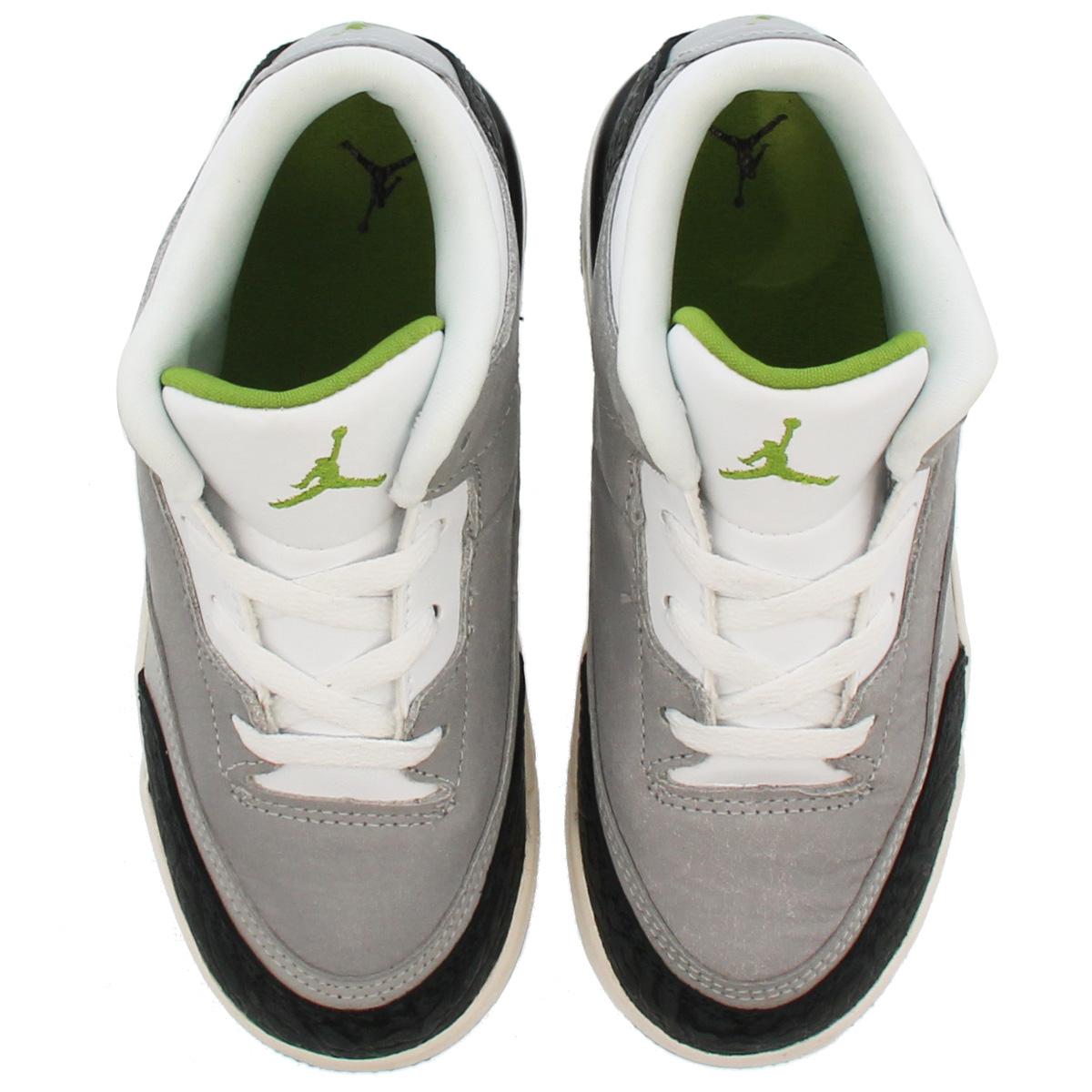 b3372d17d04 NIKE AIR JORDAN 3 RETRO BT Nike Air Jordan 3 nostalgic BT LIGHT SMOKE GREY  CHLOROPHYLL BLACK WHITE 832