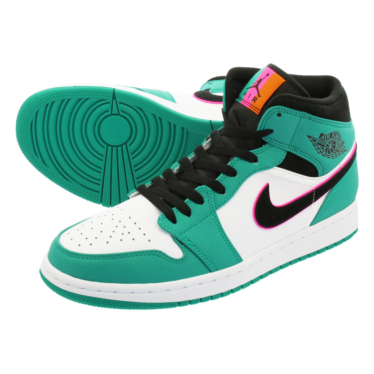 buy popular dbe00 38623 NIKE AIR JORDAN 1 MID SE Nike Air Jordan 1 mid SE TURBO GREEN BLACK HYPER  PINK ORANGE PEEL 852,542-306