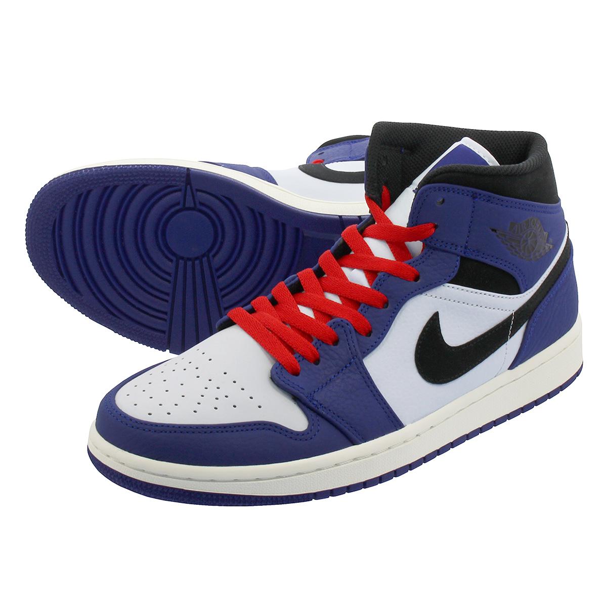196be43401c LOWTEX PLUS  NIKE AIR JORDAN 1 MID SE Nike Air Jordan 1 mid SE DEEP ROYAL  BLUE BLACK 852