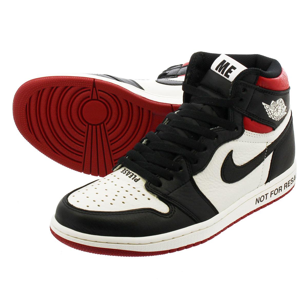 b4ff1f601ed8f9 NIKE AIR JORDAN 1 RETRO HIGH OG Nike Air Jordan 1 nostalgic high OG  SAIL BLACK VARSITY RED 861