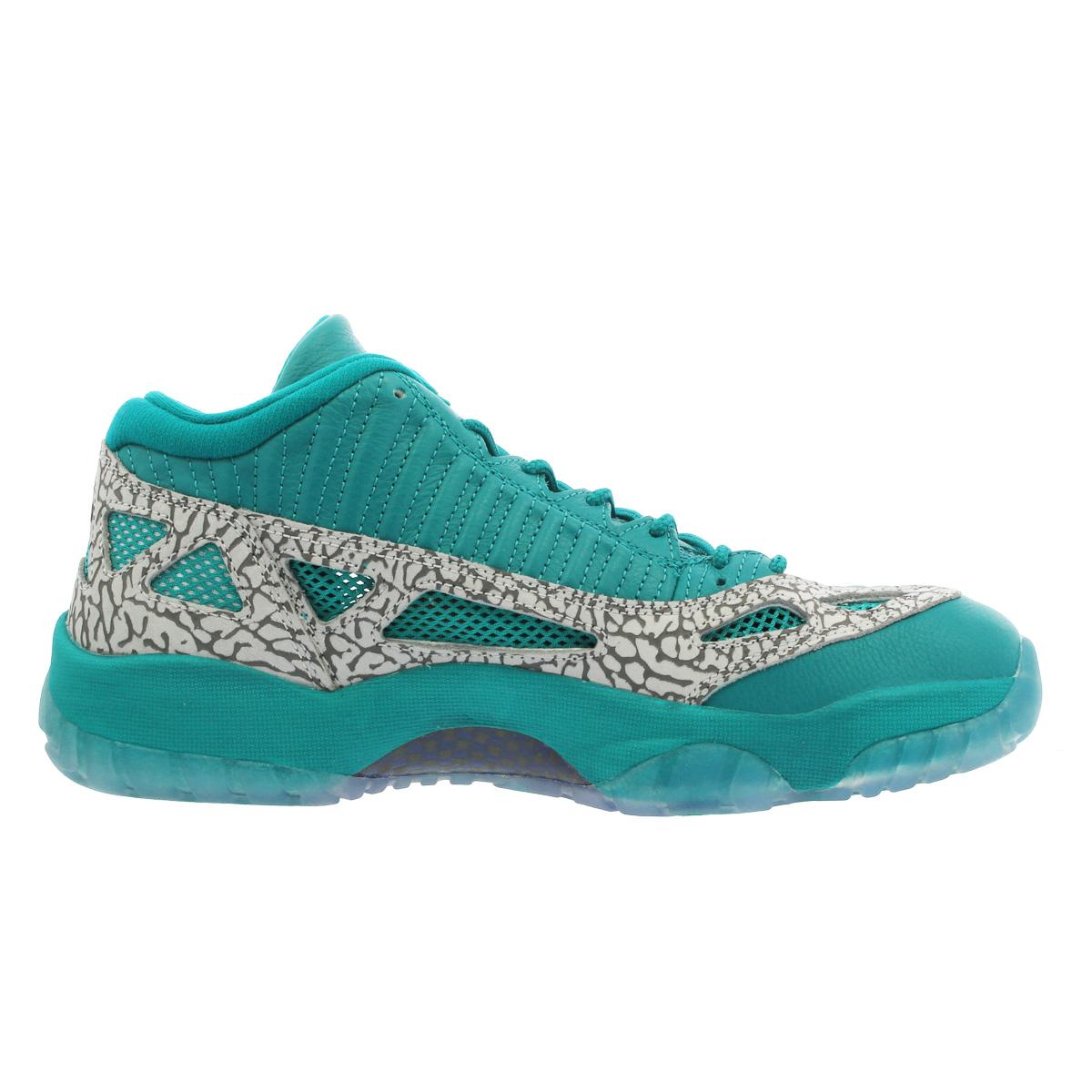 bd3fb3cabc7d8c NIKE AIR JORDAN 11 RETRO LOW IE Nike Air Jordan 11 nostalgic low RIO TEAL CEMENT  GREY 919