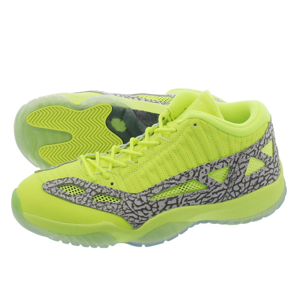 2768ebd79cfc NIKE AIR JORDAN 11 RETRO LOW IE Nike Air Jordan 11 nostalgic low VOLT CEMENT  GREY 919