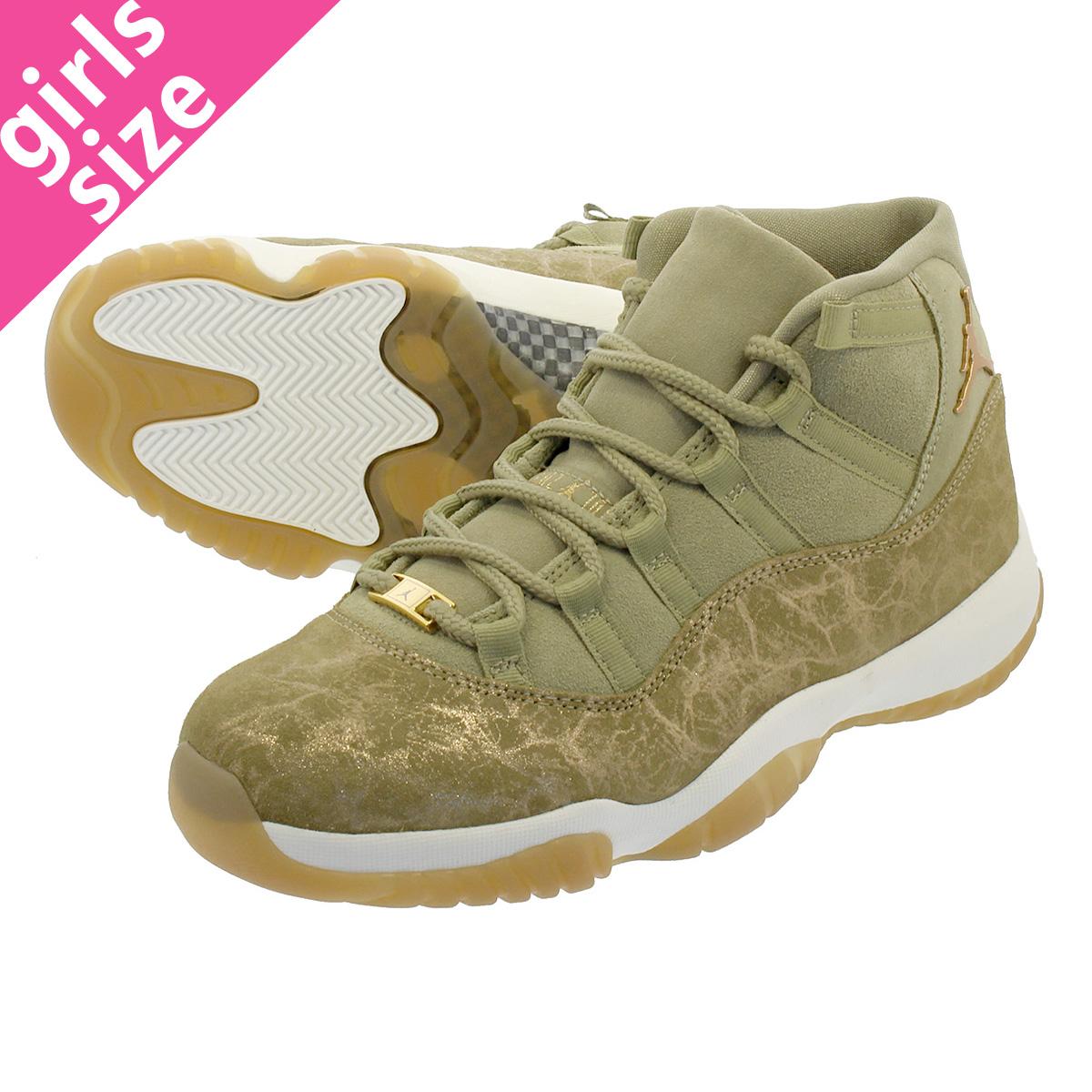 954cdb7a0b892c NIKE WMNS AIR JORDAN 11 RETRO Nike women Air Jordan 11 nostalgic NEUTRAL  OLIVE MTLC STOUT SAIL ar0715-200