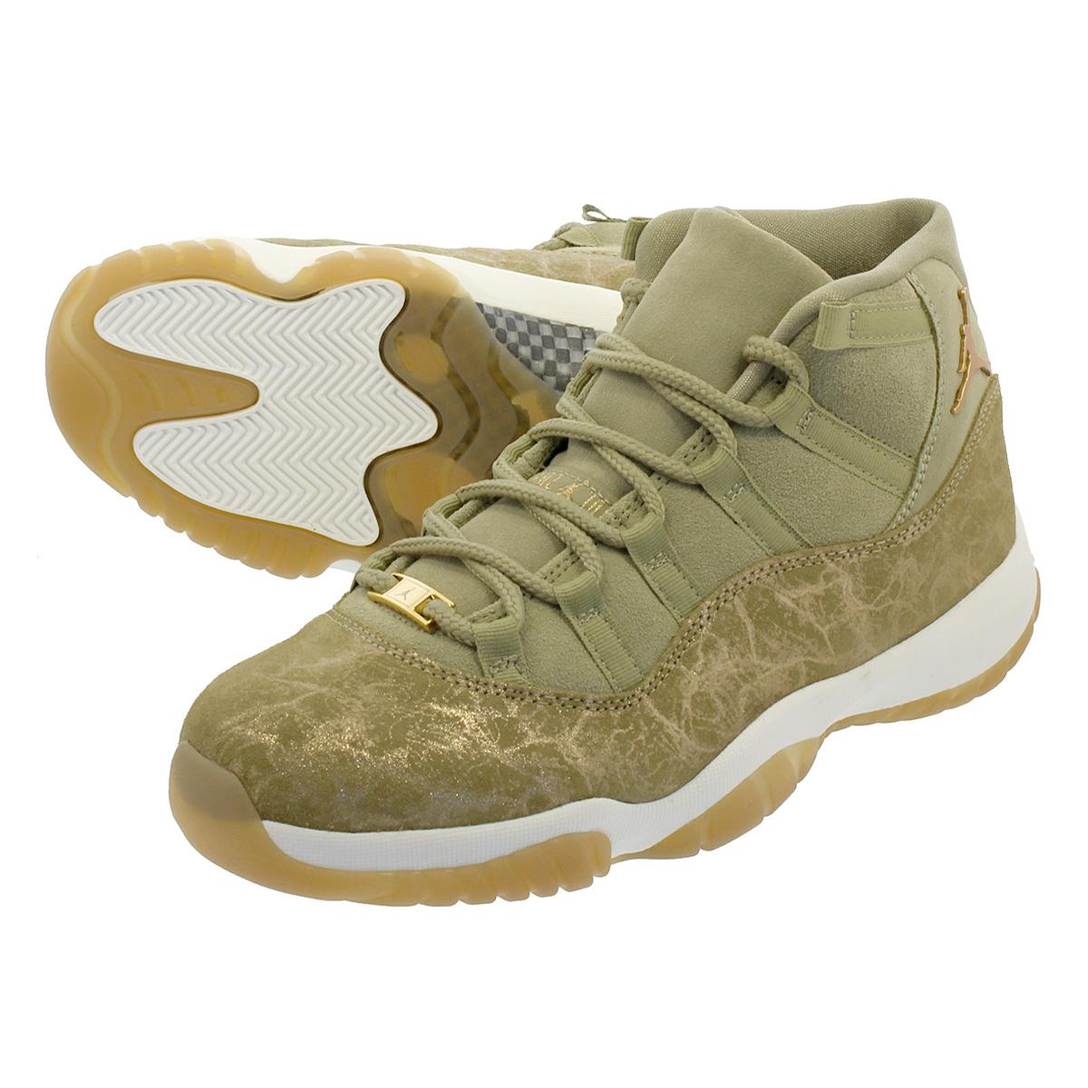 newest collection 25ad8 659c6 NIKE WMNS AIR JORDAN 11 RETRO Nike women Air Jordan 11 nostalgic NEUTRAL  OLIVE MTLC STOUT SAIL ar0715-200