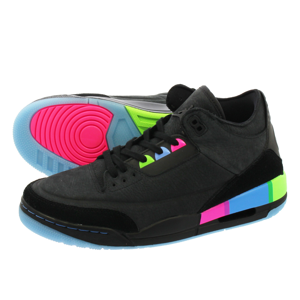 c93f975f8e5 NIKE AIR JORDAN 3 RETRO Nike Air Jordan 3 nostalgic BLACK/ELECTRIC GREEN  at9195-001