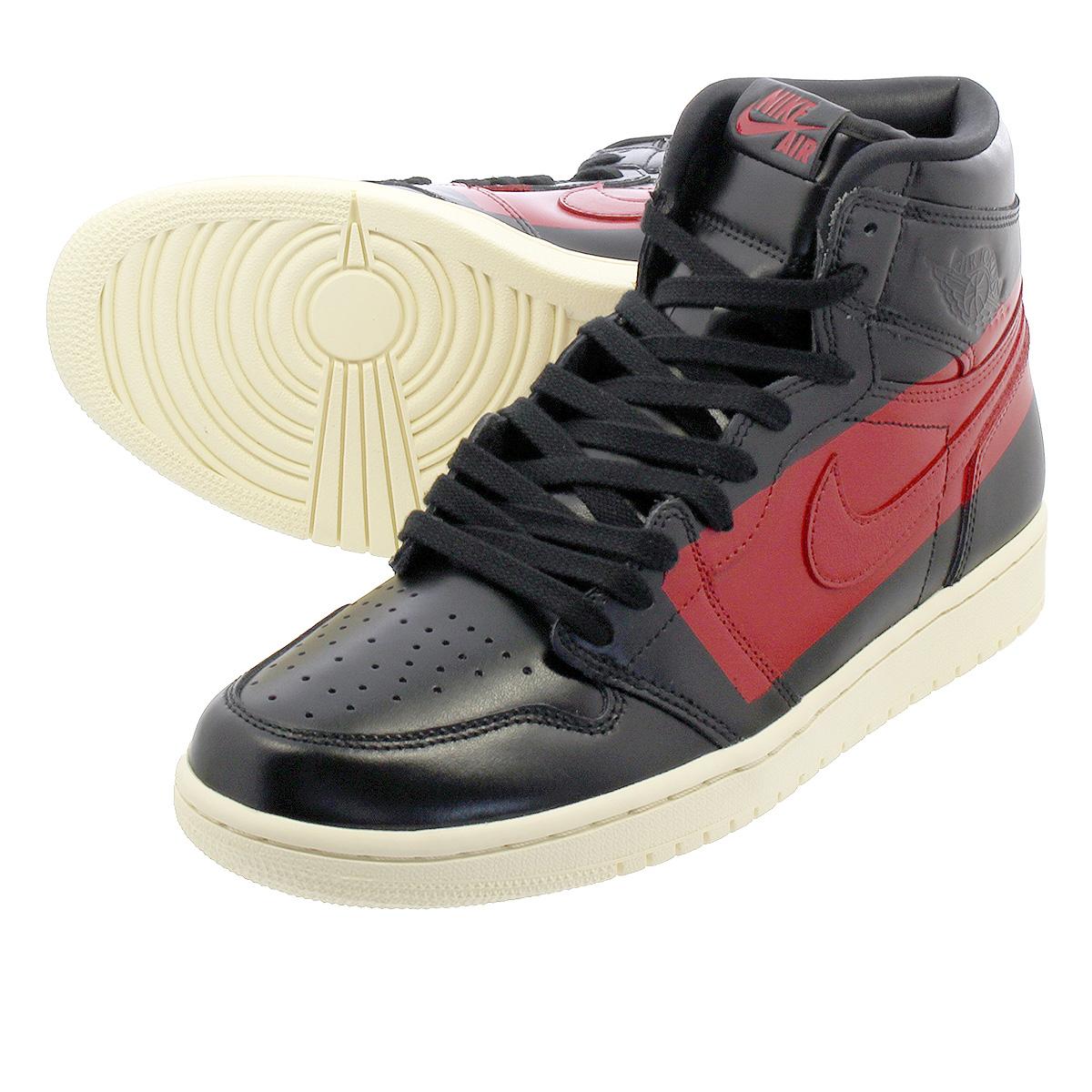 huge inventory 77d62 afa47 NIKE AIR JORDAN 1 RETRO HIGH OG DEFIANT Nike Air Jordan 1 nostalgic high OG  ディファイント BLACK UNIVERSITY RED MUSLIN bq6682-006