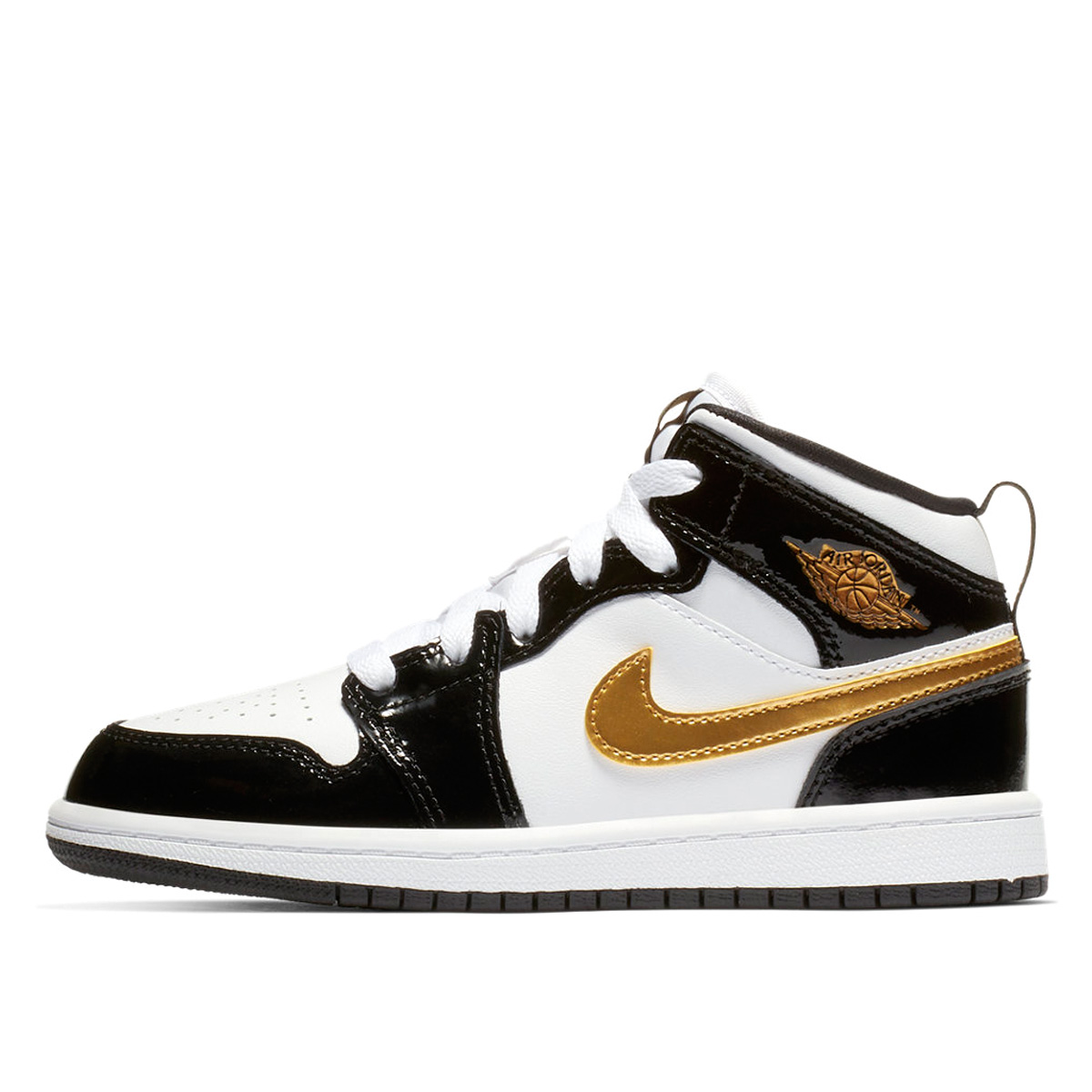 【キッズサイズ】【16-22cm】 NIKE AIR JORDAN 1 MID SE PS ナイキ エア ジョーダン 1 ミッド SE PS BLACK/METALLIC GOLD/WHITE bq6932-007