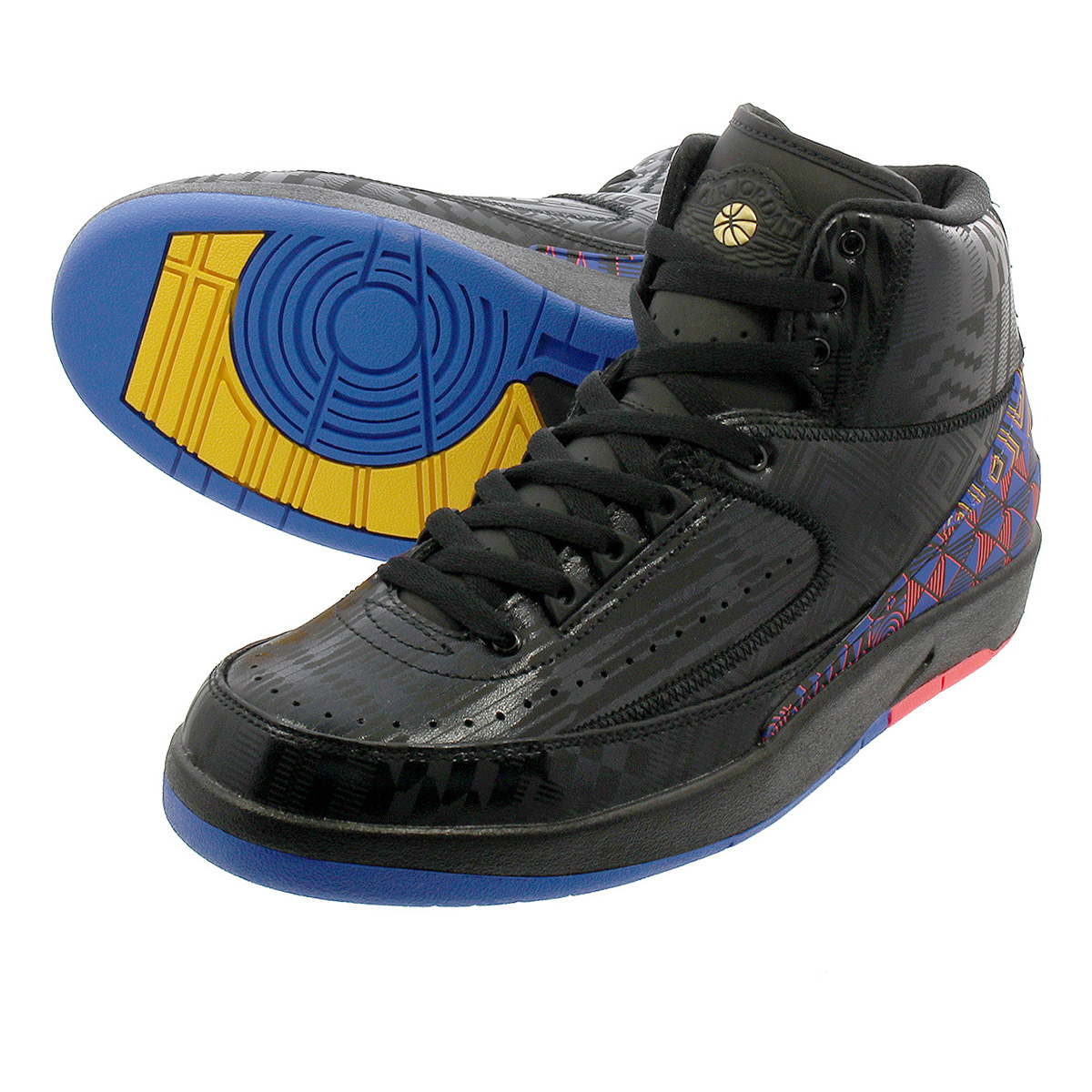 NIKE AIR JORDAN 2 RETRO耐吉空氣喬丹2重新流行BLACK/METALLIC GOLD bq7618-007