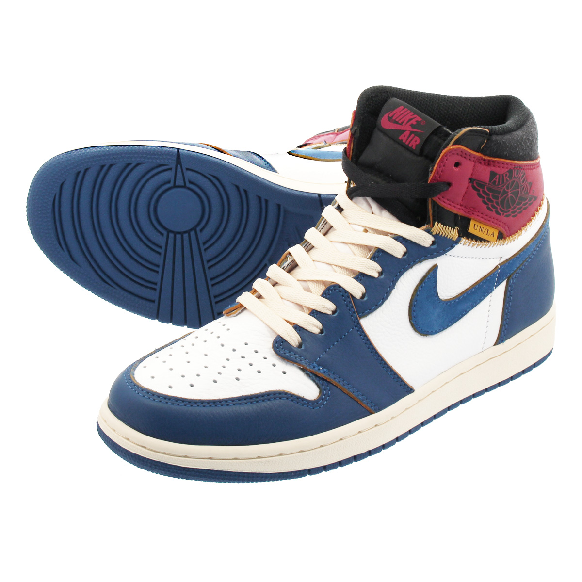 955627eec74b LOWTEX PLUS  NIKE AIR JORDAN 1 RETRO HIGH OG NRG Nike Air Jordan 1  nostalgic high OG NRG union WHITE STORM BLUE VARSITY RED BLACK bv1300-146