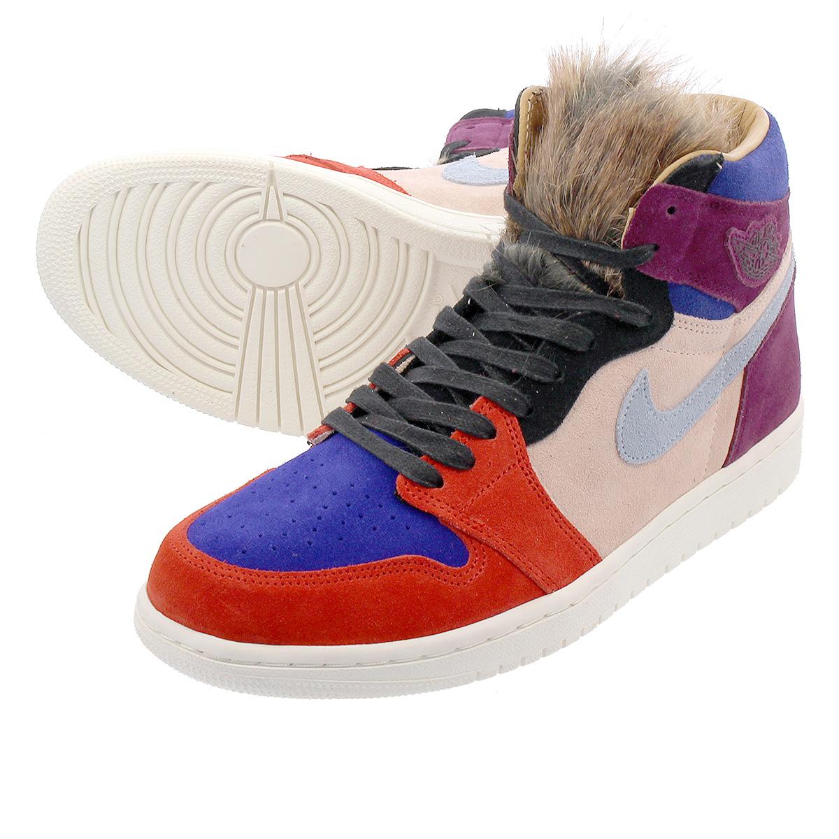 7b63e85247aabf NIKE WMNS AIR JORDAN 1 RETRO HIGH OG NRG Nike women Air Jordan 1 nostalgic high  OG NRG CORE BORDEAUX SUNSET TINT RUSH RED LIGHT ARMORY BLUE bv2613-600