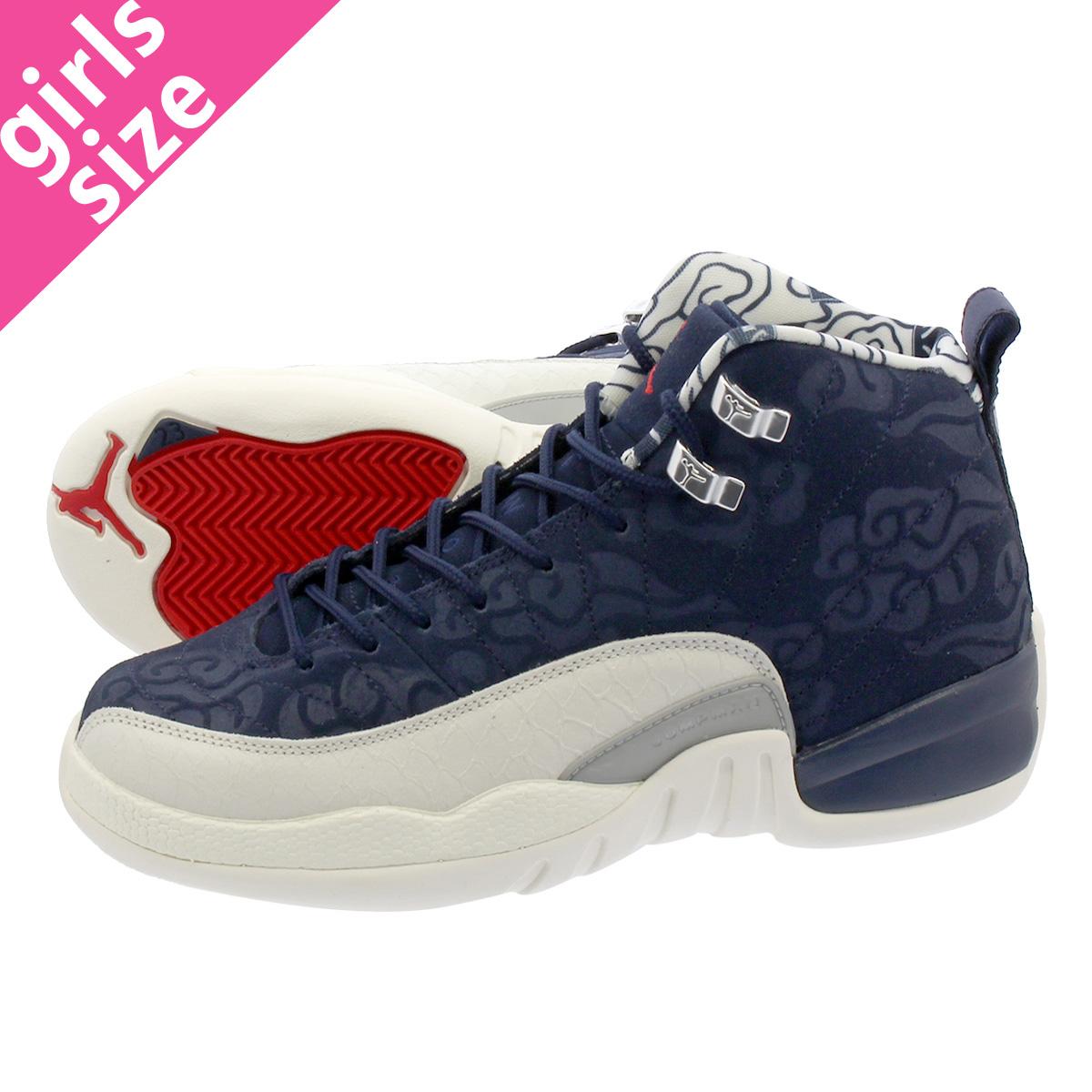 6c01eff6c01e86 NIKE AIR JORDAN 12 RETRO GS Nike Air Jordan 12 nostalgic GS COLLEGE  NAVY SAIL UNIVERSITY RED bv8017-445