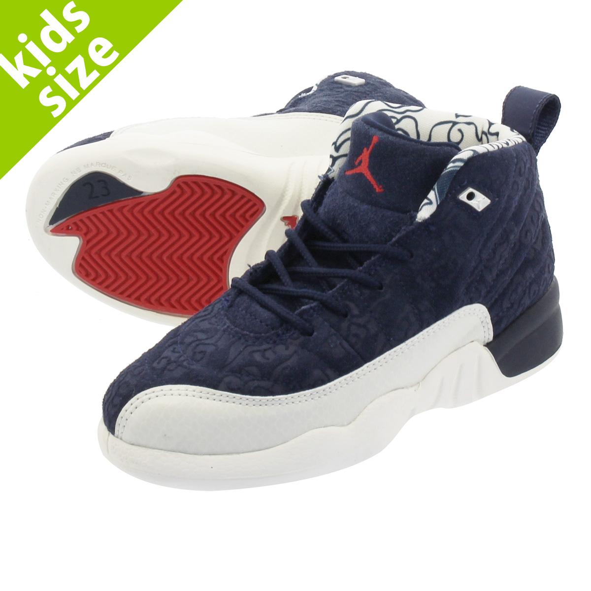 7c63c186e455 LOWTEX PLUS  NIKE AIR JORDAN 12 RETRO PS Nike Air Jordan 12 nostalgic PS  COLLEGE NAVY SAIL UNIVERSITY RED bv8018-445