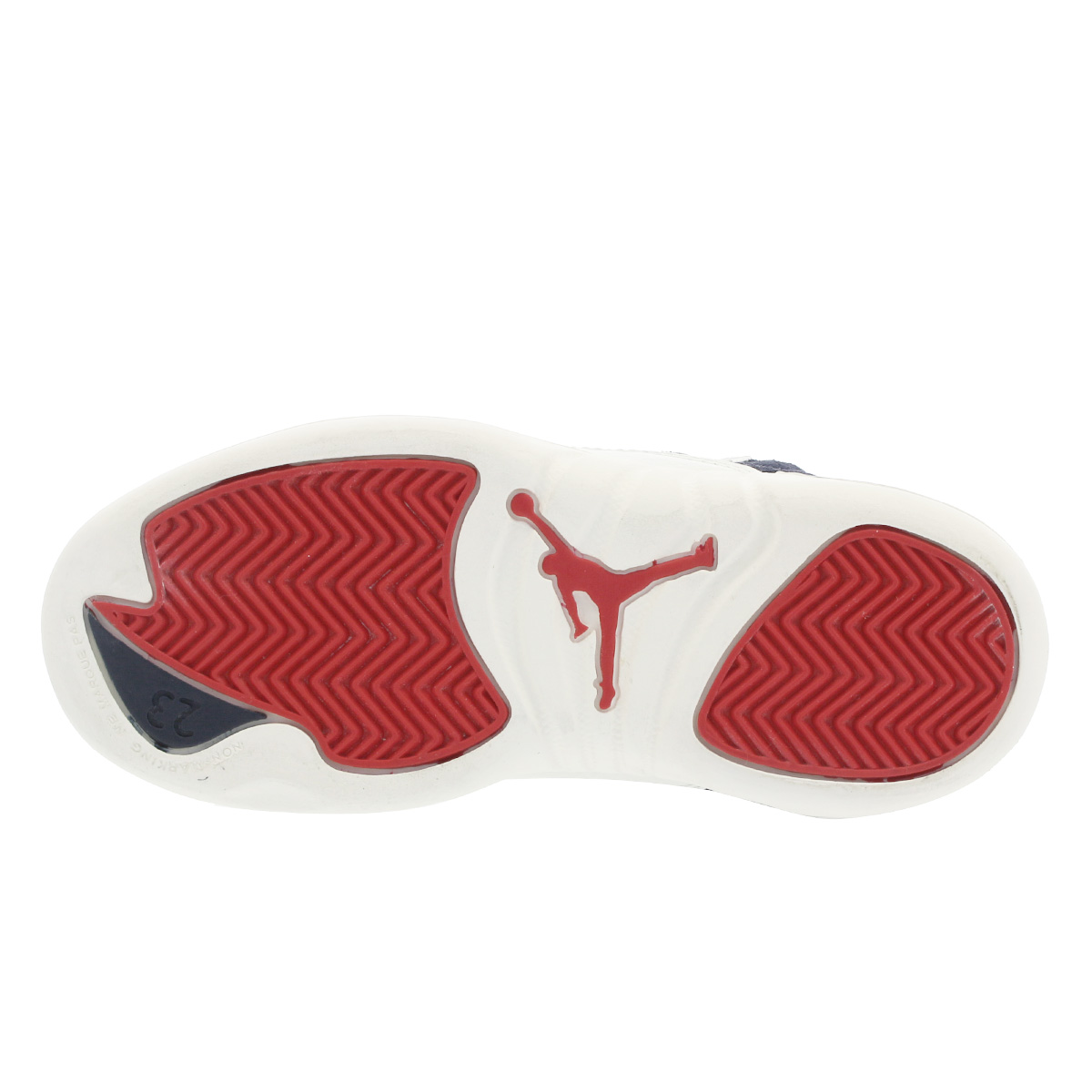 d9c374367dcd NIKE AIR JORDAN 12 RETRO PS Nike Air Jordan 12 nostalgic PS COLLEGE NAVY  SAIL UNIVERSITY RED bv8018-445