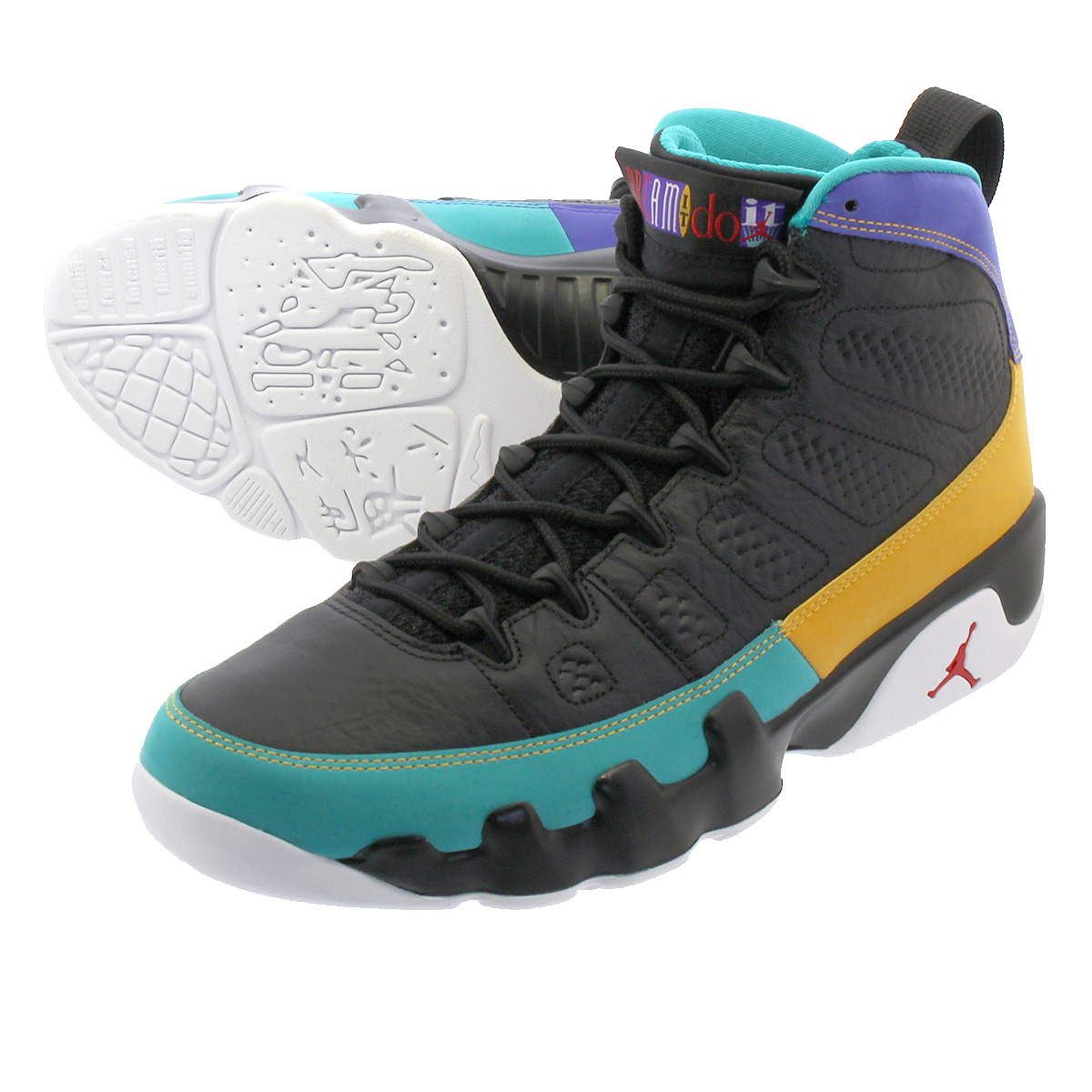 ebee7dda701ad8 NIKE AIR JORDAN 9 RETRO Nike air Jordan 9 nostalgic BLACK UNIVERSITY RED DARK  CONCORD 302