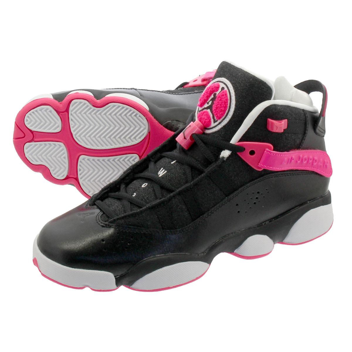 4012357495d LOWTEX PLUS: NIKE AIR JORDAN 6 RINGS GS Nike Jordan 6 RINGS Co.,Ltd. GS  BLACK/HYPER PINK/WHITE 323,399-061 | Rakuten Global Market