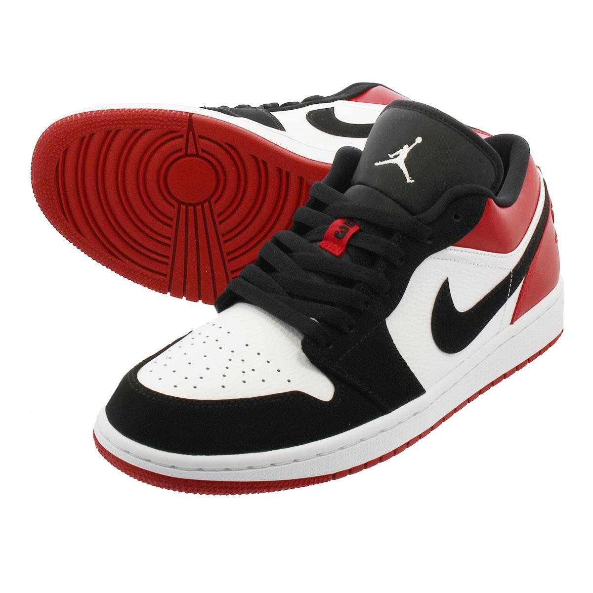 abc87bb288af LOWTEX PLUS  NIKE AIR JORDAN 1 LOW Nike Air Jordan 1 low WHITE BLACK ...
