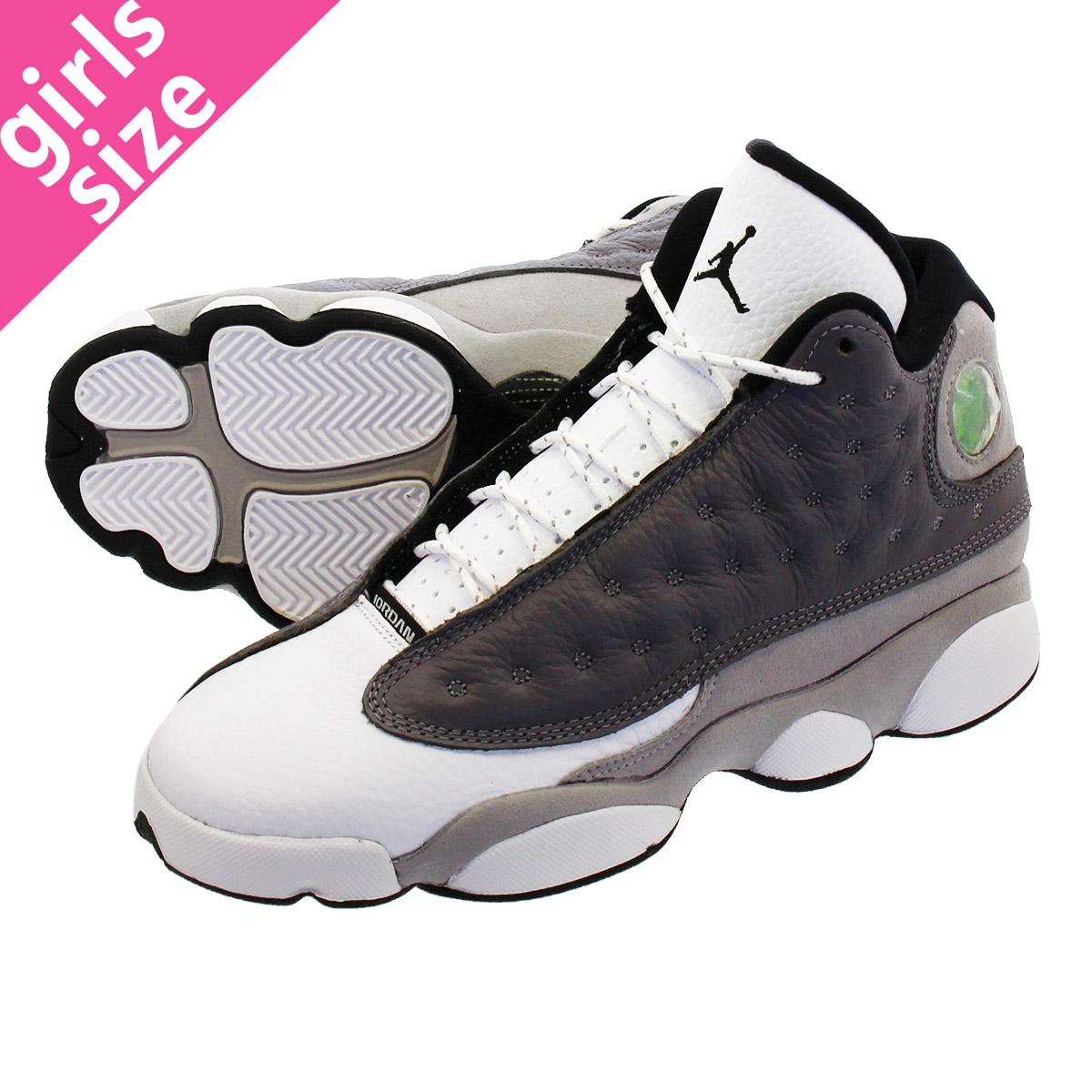 65dc423d4de NIKE AIR JORDAN 13 RETRO BG Nike Air Jordan 13 nostalgic BG ATMOSPHERE  GREY/BLACK ...