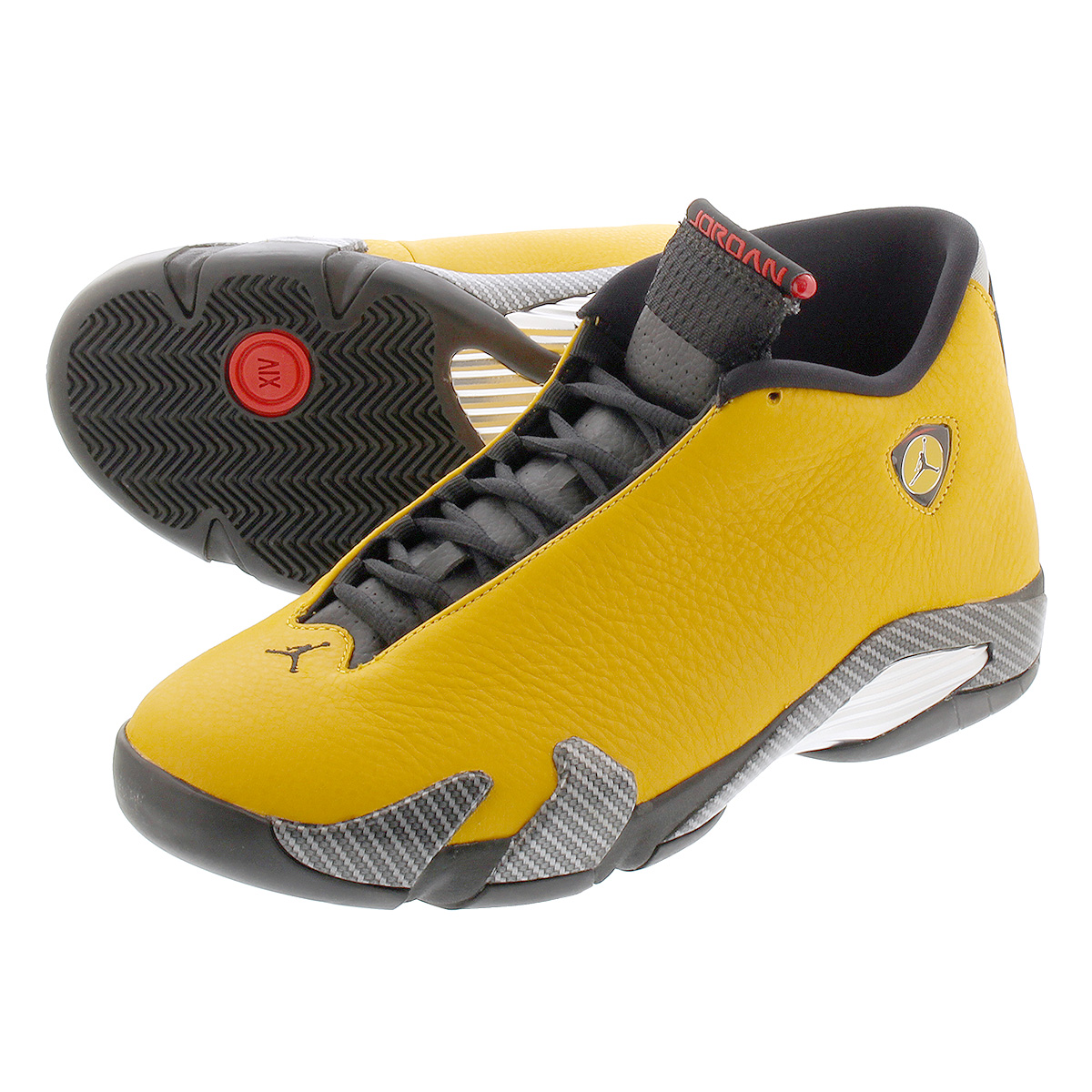 low priced a9baf e87ab NIKE AIR JORDAN 14 RETRO Nike Air Jordan 14 nostalgic UNIVERSITY  GOLD/BLACK/RED bq3685-706