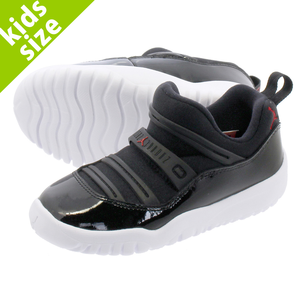 brand new 8f618 64a83 NIKE AIR JORDAN 11 RETRO LITTLE FLEX TD Nike Air Jordan 11 nostalgic little  flextime TD BLACK/GYM RED/WHITE bq7102-002