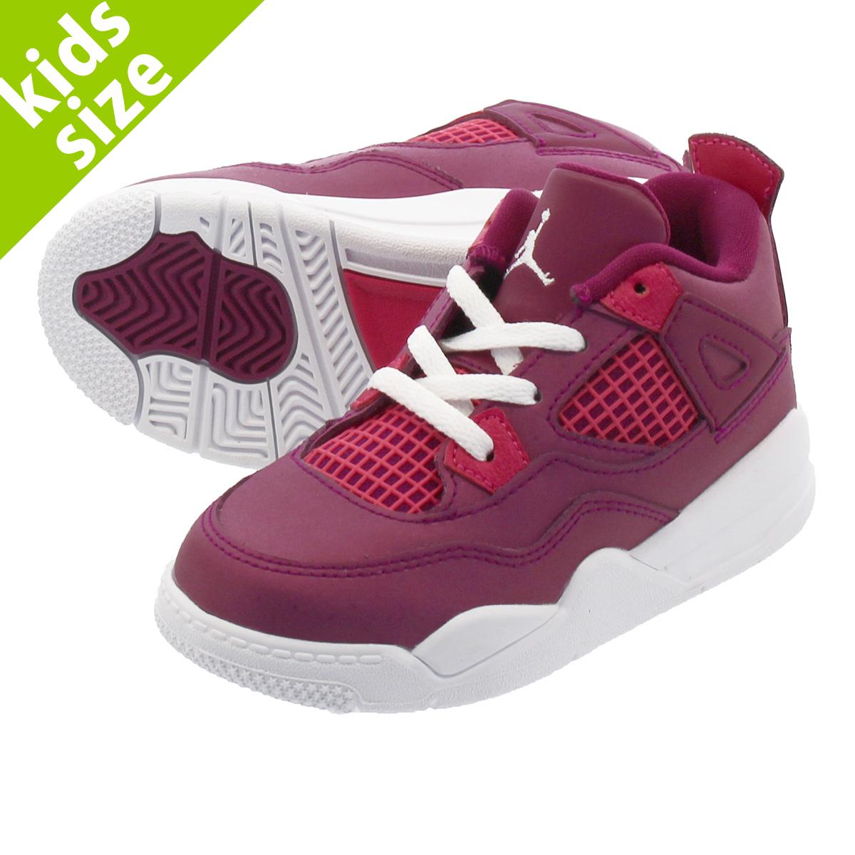 online store cda02 b0a4e NIKE AIR JORDAN 4 RETRO TD Nike Air Jordan 4 nostalgic TD TRUE BERRY RUSH  PINK WHITE bq7672-661