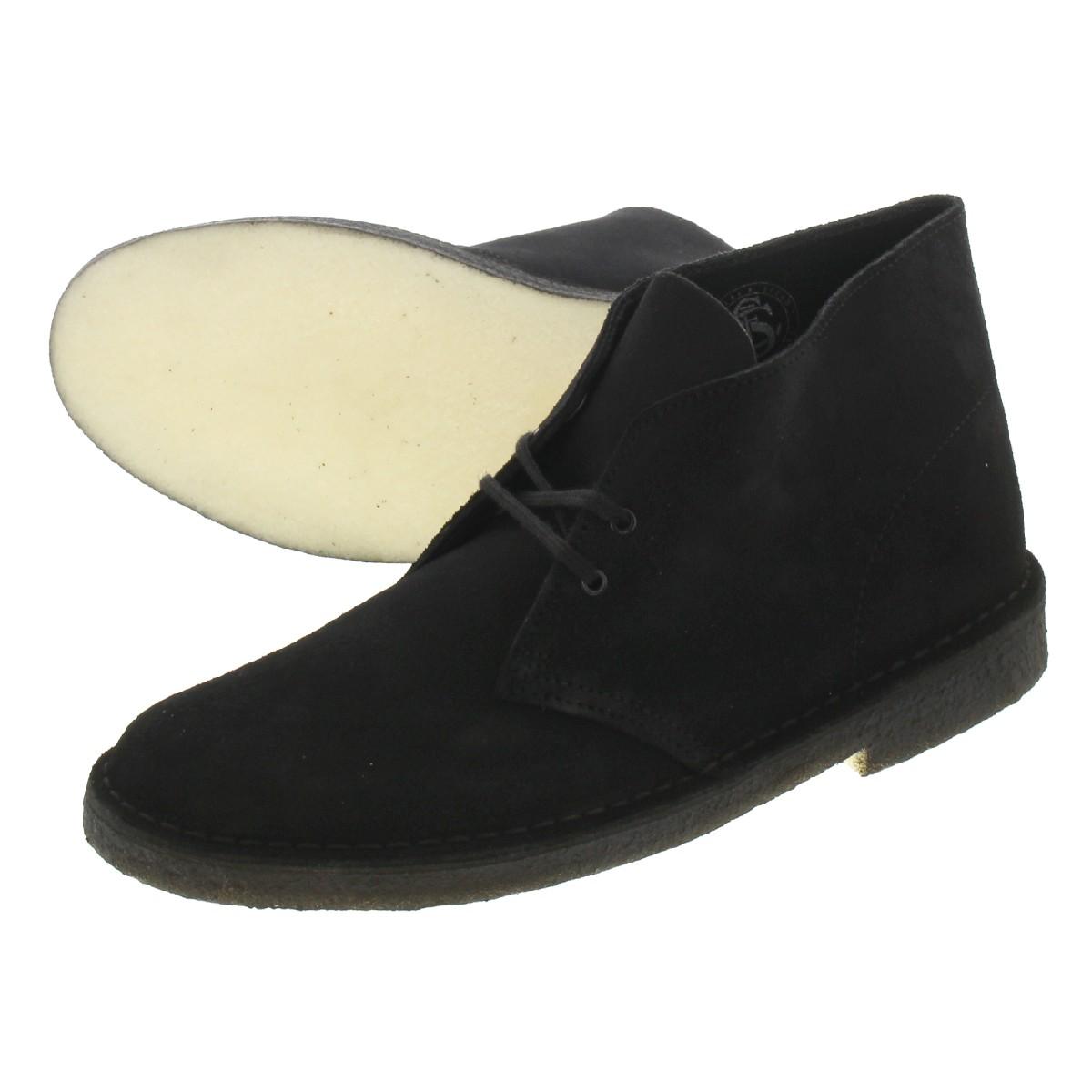 CLARKS DESERT BOOT クラークス デザート ブーツ BLACK SUEDE 26138227