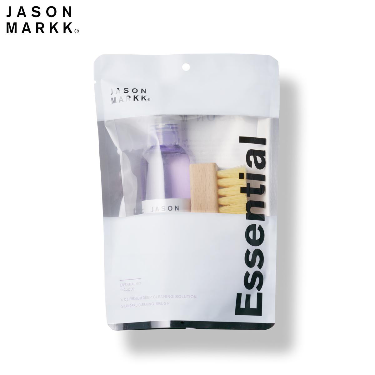 送料無料対象外 スニーカーシャンプー 掃除 メンテナンス ケア お手入れ レザー スウェード スエード あらゆる素材に対応 靴磨き メイルオーダー 公式ストア 洗い スニーカークリーナー 洗剤 あらゆる素材に対応可能なクリーナー エッセンシャル KIT ジェイソンマーク MARKK 汚れ落とし ESSENTIAL キット JASON