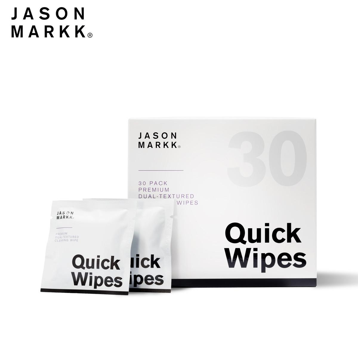 送料無料 汚れ落とし 新作 スニーカー 掃除 メンテナンス ケア お手入れ シューケア クリーナー たっぷり使える30個入りパック スニーカークリーナー JASON MARKK - ジェイソンマーク QUICK PACK 30 30個入りパック 30パック ワイプス 期間限定今なら送料無料 WIPES クイック