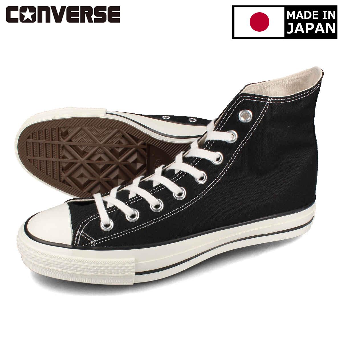 CONVERSE CANVAS ALL STAR J HI 【MADE IN JAPAN】【日本製】 コンバース オールスター J HI BLACK