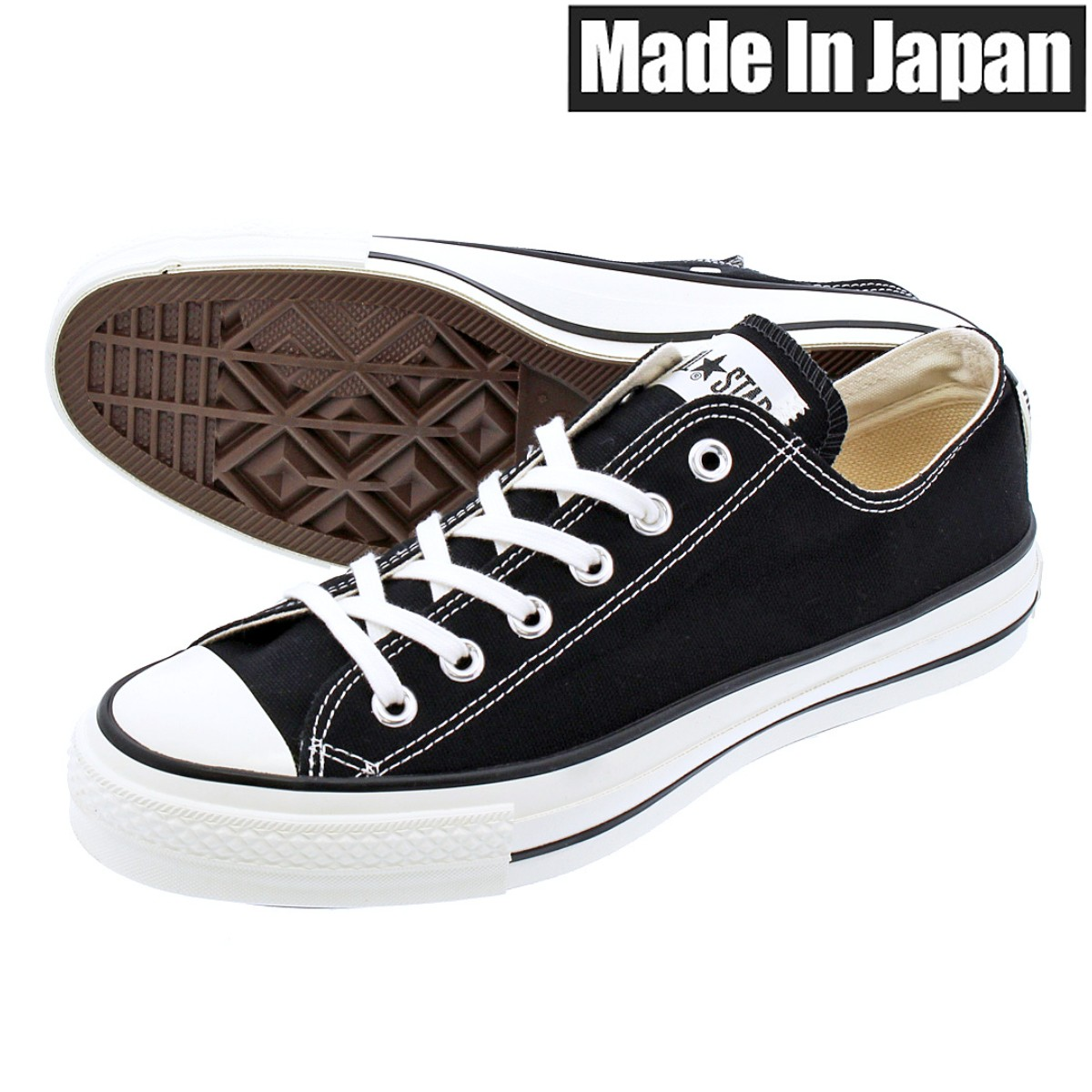 CONVERSE CANVAS ALL STAR J OX 【MADE IN JAPAN】【日本製】 コンバース オールスター J OX BLACK