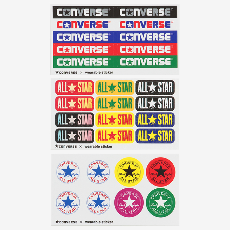 毎日がお得 値下げプライスCONVERSE ALL STAR WEARABLE STICKER OX コンバース オールスWE2DHYe9I