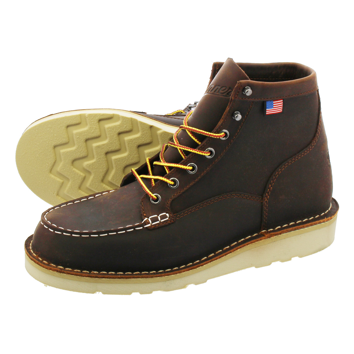 DANNER BULL RUN MOC TOE 6INCH BOOT 【MADE IN U.S.A.】【D WIDTH】ダナー ブル ラン モック トゥ 6インチ ブーツ BROWN 15563