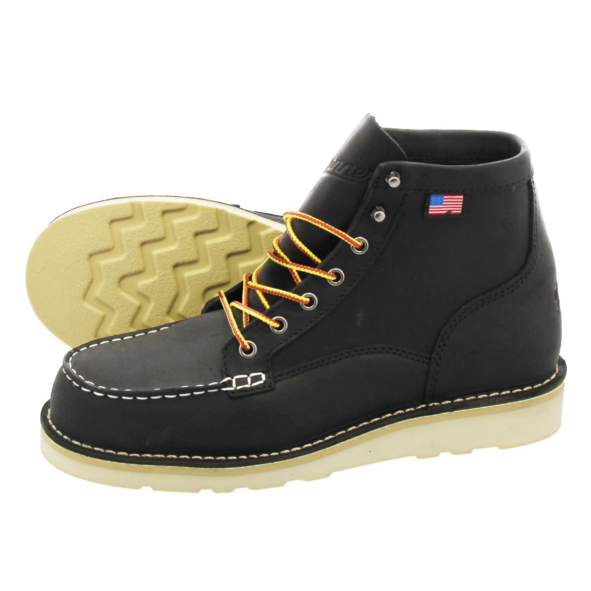 DANNER BULL RUN MOC TOE 6INCH BOOT 【MADE IN U.S.A.】 【D WIDTH】ダナー ブル ラン モック トゥ 6インチ ブーツ BLACK 15568