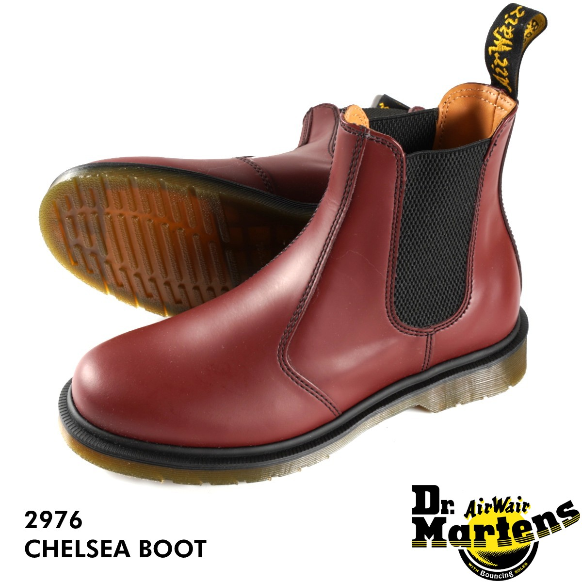 Dr.Martens CHELSEA BOOT 2976 【メンズ】【レディース】 ドクターマーチン チェルシー ブーツ CHERRY 赤 サイドゴア