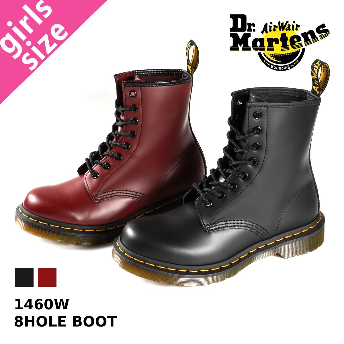 【大人気の女の子サイズ♪】 Dr.Martens 8HOLE BOOT 1460W ドクターマーチン レディース 8ホール ブーツ BLACK(R11821006)/ CHERRY RED(R11821600)