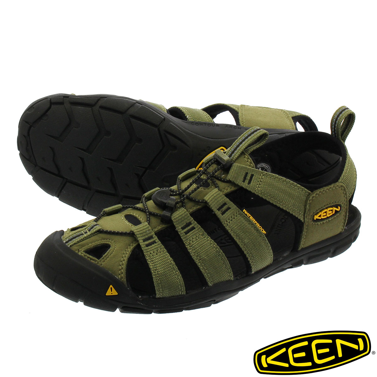KEEN CLEARWATER CNX 【メンズ】 キーン クリアウォーター CNX BURNT OLIVE/BLACK 1012528