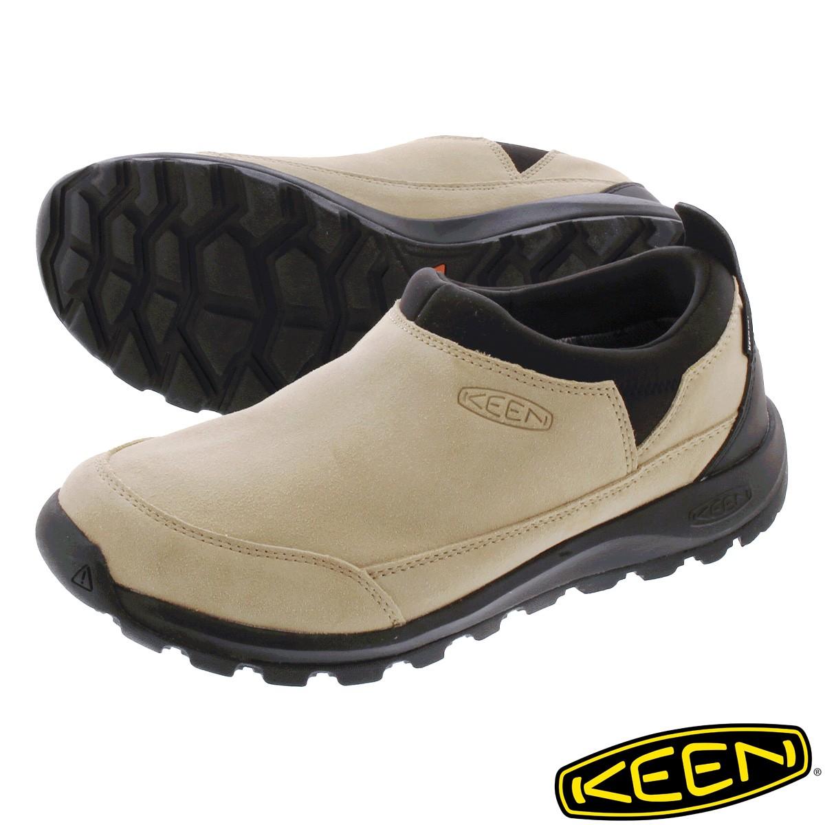送料無料 KEEN キーン スニーカー 靴 スリッポン お求めやすく価格改定 メンズ 防水 ハイキング テレビで話題 アウトドア 登山 1023838 GLIESER グリーザー BLACK MOC フェス SAFARI WP モック ウォータープルーフ ベージュ