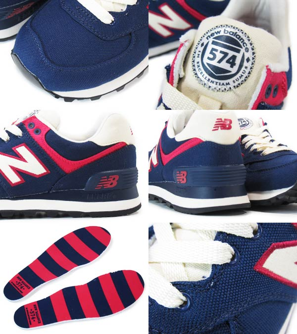 NEW BALANCE WL574RUN New Balance WL574RUN NAVY/RED