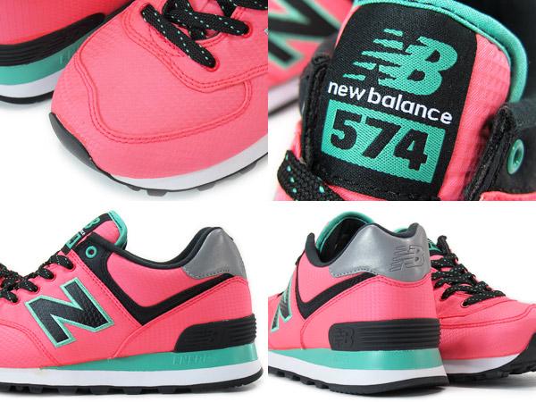 NEW BALANCE WL574WBG New Balance WL574WBG PINK/TIFFANY GREEN/BLACK
