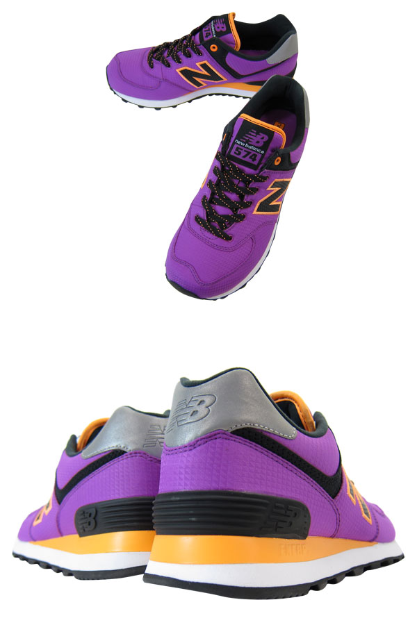 NEW BALANCE WL574WBP-new balance WL574WBP PURPLE/BLACK/ORANGE