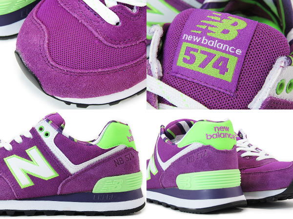 NEW BALANCE WL574YCK New Balance WL574YCK PURPLE/GREEN
