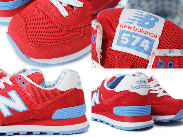 NEW BALANCE WL574YRD New Balance WL574YRD RED/BLUE