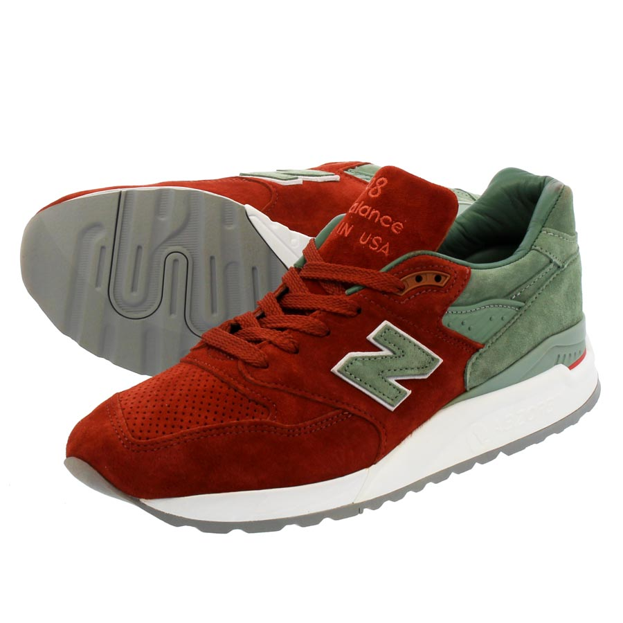 NEW BALANCE M998BMG 【CONCEPTS】【CITY RIVALRY】 【MADE IN U.S.A.】 【Dワイズ】 ニューバランス M 998 BMG RED/BOWN/OLIVE
