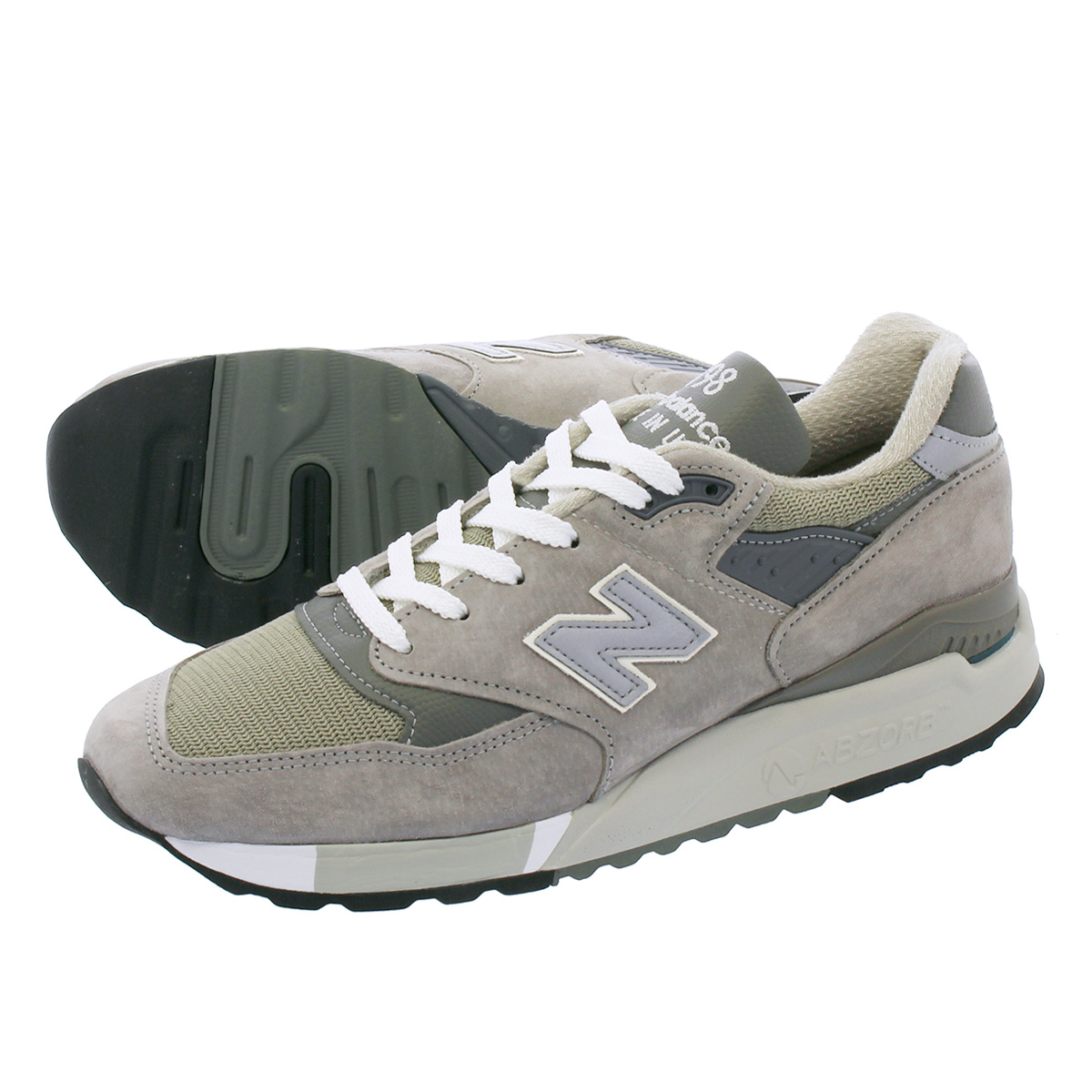 NEW BALANCE M998GY 【MADE IN U.S.A.】 【Dワイズ】 ニューバランス M998GY GREY