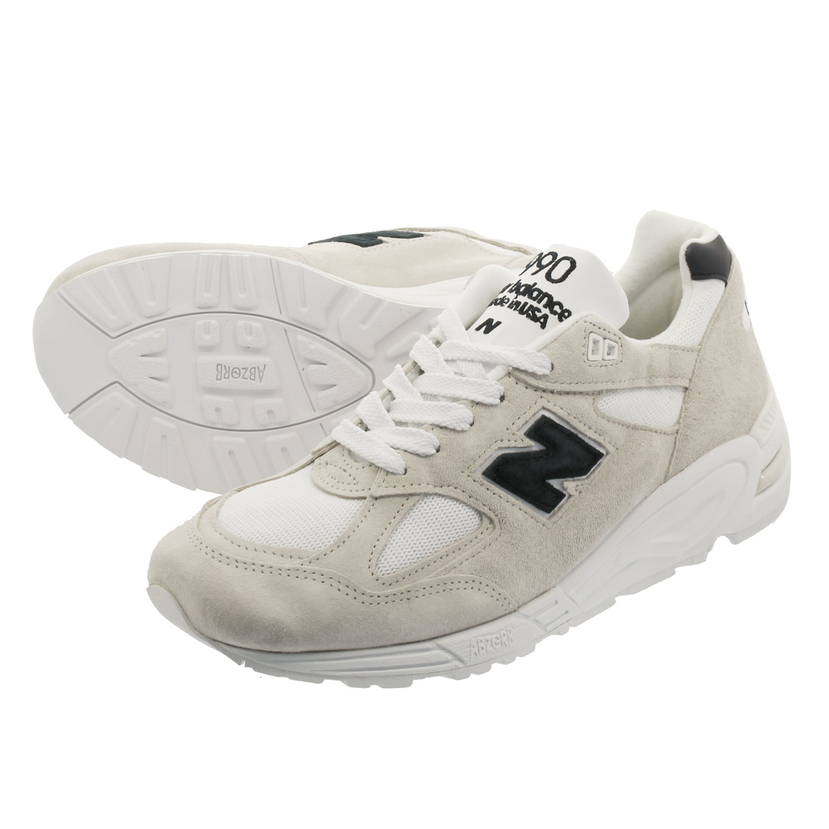 hot sale online d6a18 e3e51 NEW BALANCE M990WE2 New Balance M 990 WE2 WHITE/GREY/NAVY